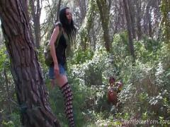 Sex video category amateur (1497 sec). Petite Babe Gets Jumped In The Forest.