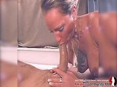 Sex x videos category cumshot (2171 sec). Cute blonde wants to taste his dick in her mouth.