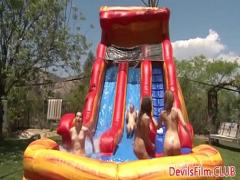 Super porno category sex_toys (366 sec). Gangbang lesbos outdoor toying pussy and ass.