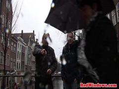 XXX video link category cumshot (602 sec). Dutch prostitute sucking tourist before sex.