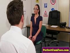 Embed youtube video category cumshot (369 sec). UK nurse tugging in office before facial.