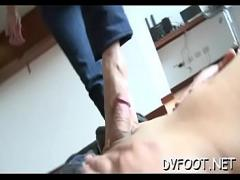 XXX film category feet (308 sec). Hot girl gets her foot licked wildly whilst toying her cunt.