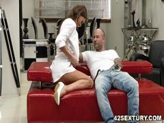 Play movie category anal (375 sec). Tina Kay rides a big dick with her asshole.