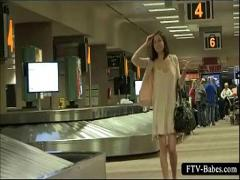 Play film category teen (309 sec). Lovely sweetie gets nasty and show panties in public.