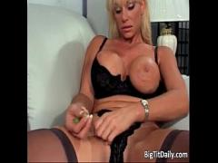 Sexy sensual video category blonde (901 sec). Blonde MILF with enormous boobs gets her.