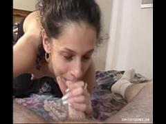 XXX porno category blowjob (901 sec). Lovely amateur babe sucking on her lover039_s cock.