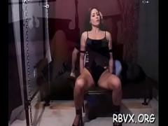 XXX pornography category bdsm (307 sec). Wicked bitch relishes some real rough slavery action.