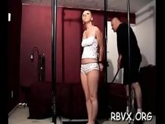 18+ video list category bdsm (307 sec). Nasty doxies get degraded in a real rough bondage session.