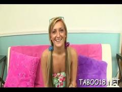 Stars video category teen (307 sec). Savoury teen likes enjoyable thick dick with her sensitive hands.